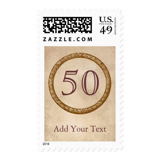 Decorative Wreath Customizable Anniversary Postage Stamps