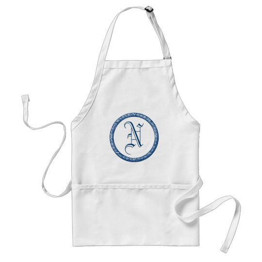 Decorative Wreath Customizable Monogram Adult Apron