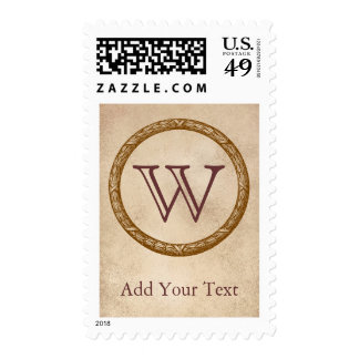 Decorative Wreath Customizable Monogram Stamp