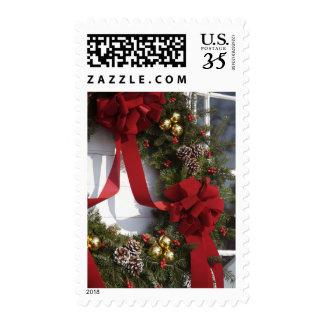 Decorative wreath postage