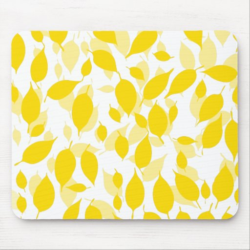 Decorative yellow floral pattern mousepads