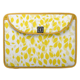 Decorative yellow floral pattern sleeve for MacBooks