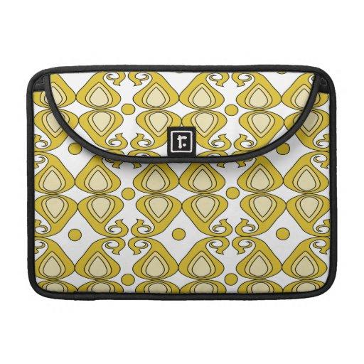 Decorative Yellow Paisley Pattern MacBook Pro Sleeve