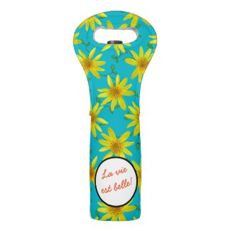 Decorative Yellow Wildflower on any Color any Text