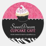 Decorative Zebra Print Cupcake Jar Stickers