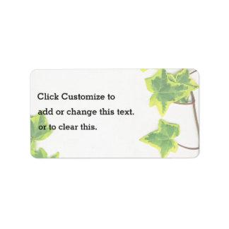 Decoratives verde etiquetas de dirección