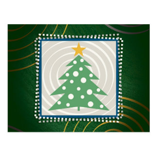 Decorativo verde del árbol de navidad el   postales