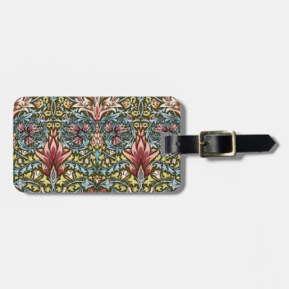 Decorator Floral Wallpaper Pattern Vintage Chic Luggage Tag