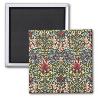 Decorator Floral Wallpaper Pattern Vintage Chic Magnet