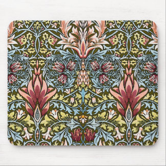 Decorator Floral Wallpaper Pattern Vintage Chic Mouse Pad