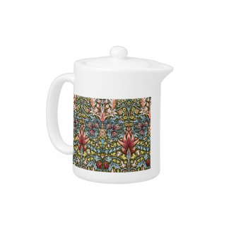 Decorator Floral Wallpaper Pattern Vintage Chic Teapot