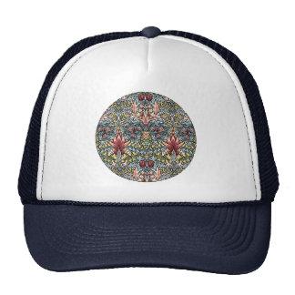 Decorator Floral Wallpaper Pattern Vintage Chic Trucker Hat