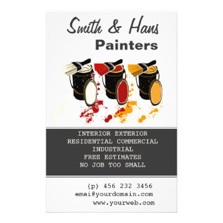 "Decorator Painters  House Painting 5.5"" X 8.5"" Flyer"
