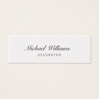 Decorator - Professional elegant small target Mini Business Card