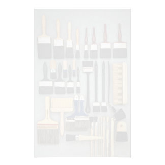 Decorator's brushes in different sizes custom stationery
