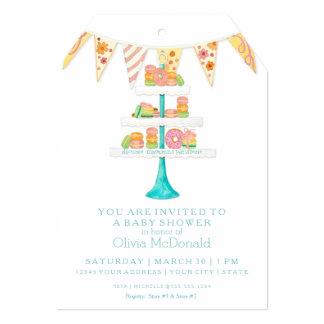 Décorée Macarons Pâtisserie Bunting Baby Shower Card