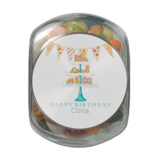 Décorée Macarons Pâtisserie Bunting Birthday Party Glass Jar