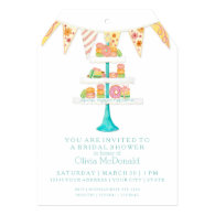 Décorée Macarons Pâtisserie Bunting Bridal Shower Invitation Card
