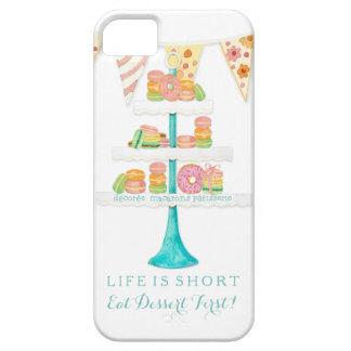 Décorée Macarons Pâtisserie come el postre primero iPhone 5 Carcasa
