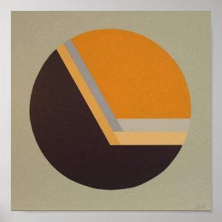 """DecoSphere print (10""""x10"""" tangerine)"""