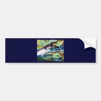 DeCosta blue heron Zazzle Bumper Sticker