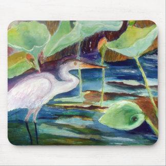 DeCosta blue heron Zazzle Mouse Pad