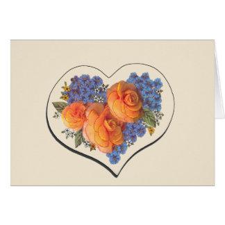 Decoupage Love Heart-1 Card