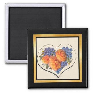 Decoupage Love Heart-1 Magnet