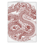 Decoupage of a Chinese dragon Greeting Card