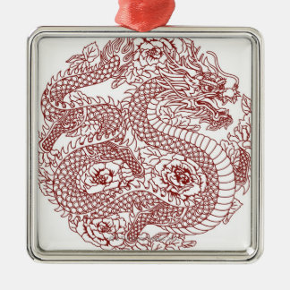 Decoupage of a Chinese dragon Metal Ornament