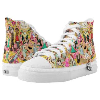Decoupage Unicorn High-Top Sneakers