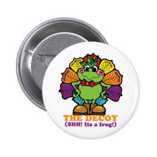 decoy turkey frog pin