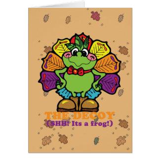 decoy turkey frog greeting card