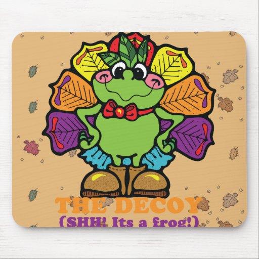 decoy turkey frog mouse pad