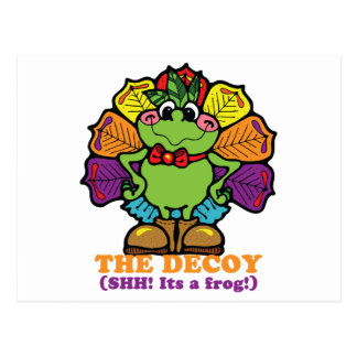 decoy turkey frog postcards