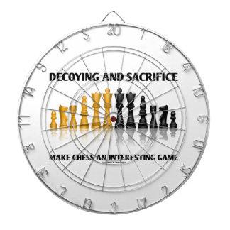 Decoying And Sacrifice Make Chess Interesting Game Dartboard With Darts