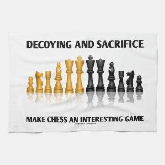 Decoying And Sacrifice Make Chess Interesting Game Hand Towel