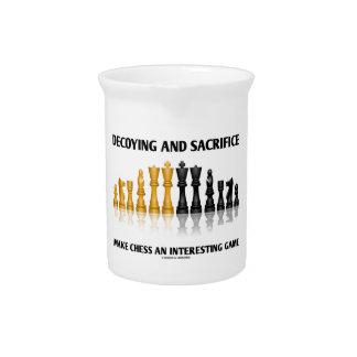Decoying y el sacrificio hacen ajedrez el juego jarras
