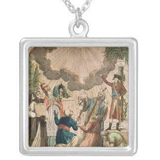 Decree Instituting the Freedom of Worship Square Pendant Necklace