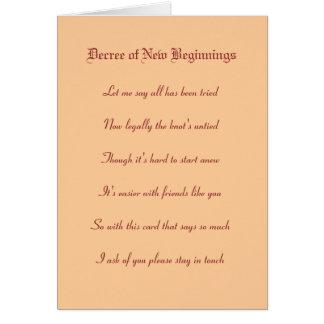 Decree of New Beginnings Stationery Note Card