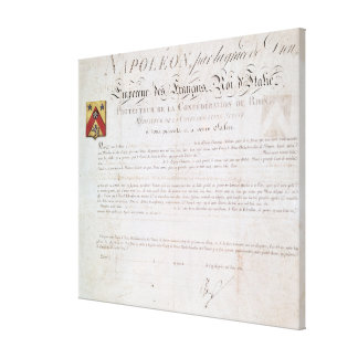 Decree of nobility created under the First Canvas Print