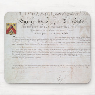 Decree of nobility created under the First Mouse Pad