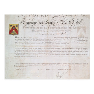 Decree of nobility created under the First Postcard