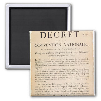 Decree of the National Convention 2 Inch Square Magnet