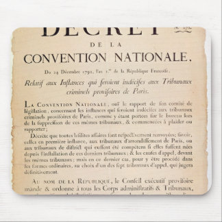 Decree of the National Convention Mouse Pad