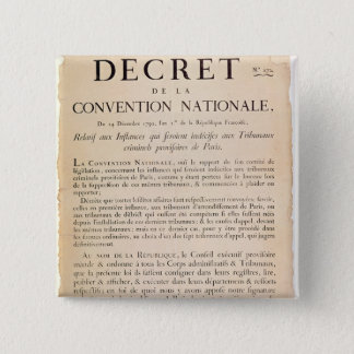 Decree of the National Convention Pinback Button