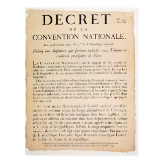 Decree of the National Convention Postcard