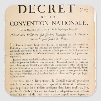 Decree of the National Convention Square Sticker
