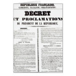 Decree & Proclamation by Napoleon Bonaparte Card