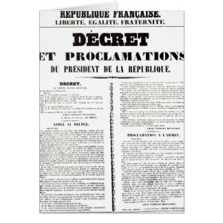 Decree & Proclamation by Napoleon Bonaparte Card